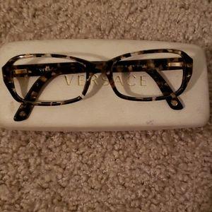Versace tortoise eyeglasses